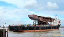 Video: Bauteil der Norwegian Escape auf dem Weg zur Meyer Werft