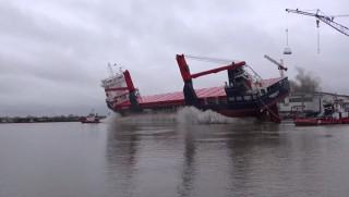 Nordana Sky Stapellauf auf der Ferus Smit Werft in Leer / © Inselvideo
