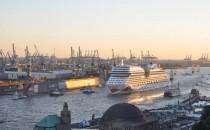 Kreuzfahrtsaison 2015 in Hamburg wird von AIDAmar eröffnet