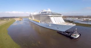 Anthem of the Seas auf der Ems in Richtung Nordsee / © Nils Kallmeyer