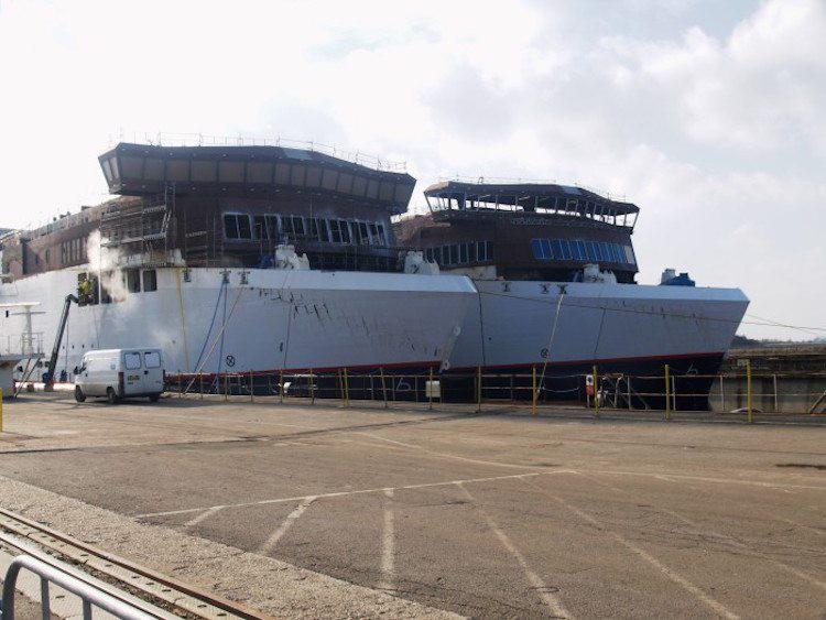Umbau der Scanlines Fähren auf der Fayard Werft / © Scandlines