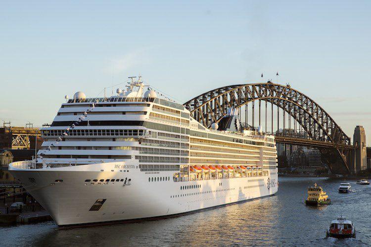 MSC Orchestra in Sydney angekommen / MSC Kreuzfahrten