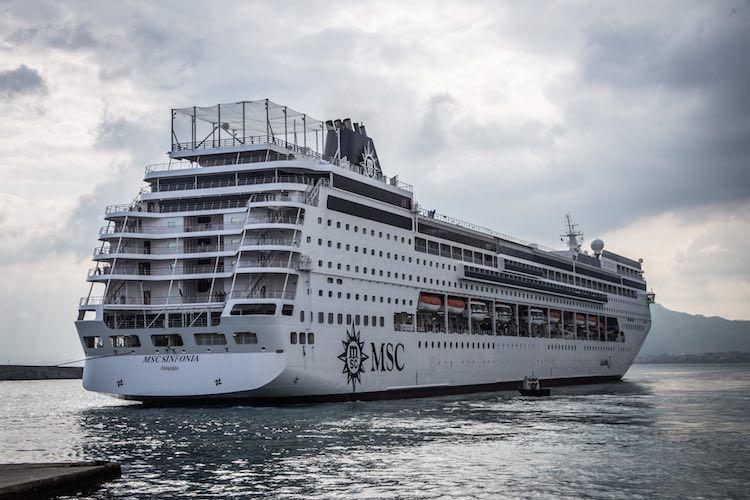 MSC Sinfonia nach ihrer Verlängerung 2015 bei Fincantieri / © MSC Kreuzfahrten
