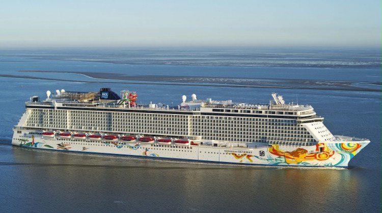 Norwegian Getaway: Hotelschiff während Olympia 2016 in Rio © Meyer Werft