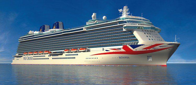 P&O Brittania wird am 10.März 2015 in Southamptin von Queen Elisabeth getauft / © P&O Cruises