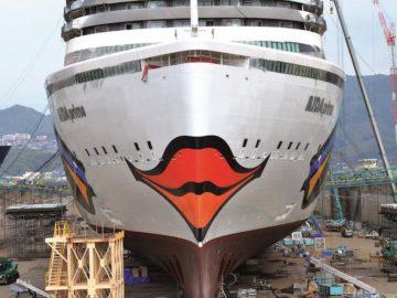 AIDAprima hat ihren Kussmund bekommen / © AIDA Cruises