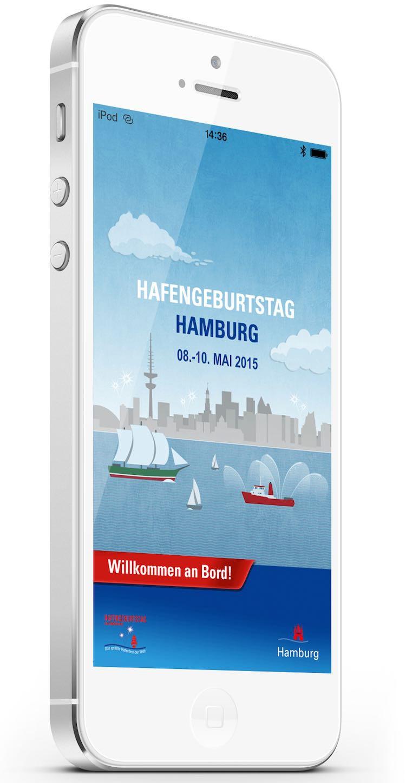 Handy App für Hamburger Hafengeburtstag 2015 / Hamburg Messe und Congress GmbH