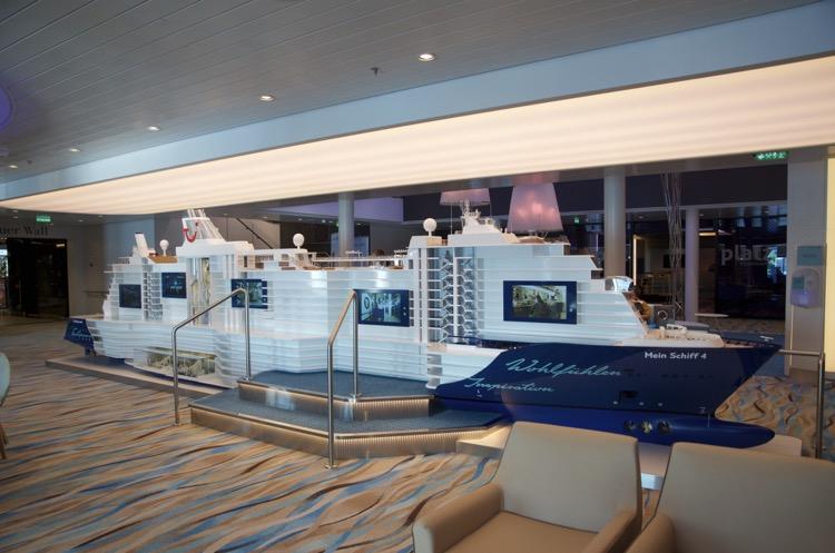Mein Schiff 4 interaktives Schiffsmodell