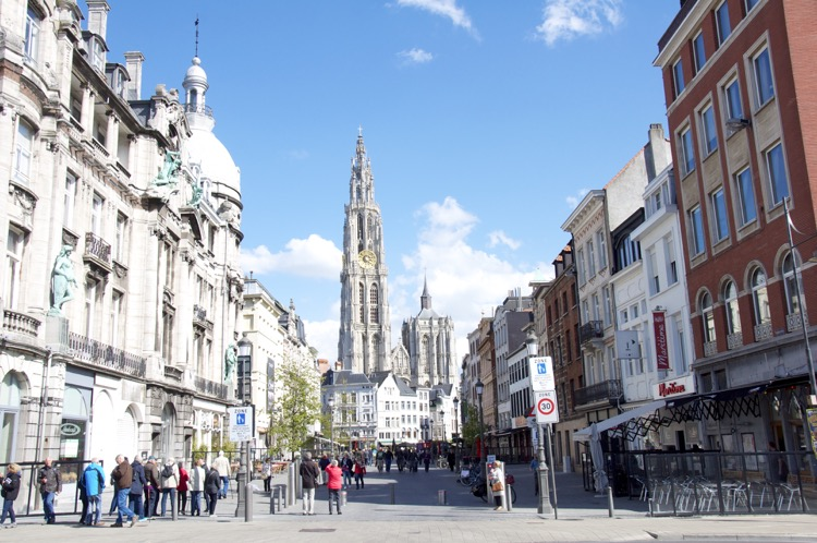 Blick in die Altstadt Antwerpen