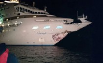 Bild: Celestyal Crystal krachte mit dem Bug in ein Tankschiff