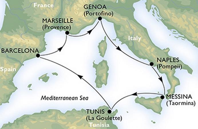 MSC Meraviglia - Westliches Mittelmeer © MSC Kreuzfahrten