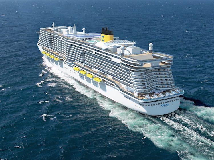 Heckansicht der neuen Costa Kreuzfahrtschiffe aus FInnland / © Costa Kreuzfahrten