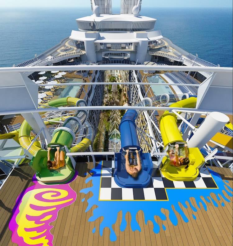 Wasserrutschen auf der Harmony of the Seas / © Royal Caribbean