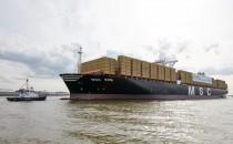 """Größtes Containerschiff """"MSC Zoe"""" wird heute in Hamburg getauft"""
