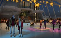Eisbahn und AIDAprima Beachclub auf den Cruise Days 2015