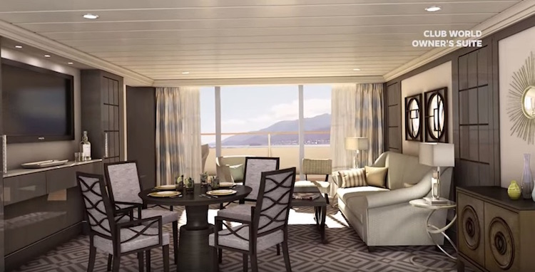 Azamara Club World Owner Suite / © Azamara Club Cruises