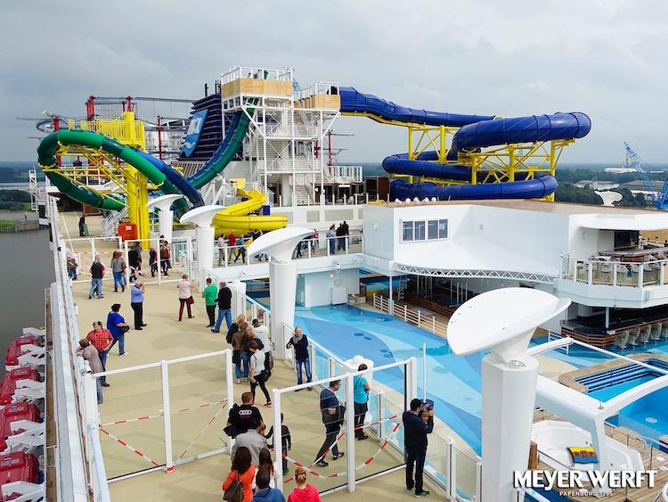 8000 Menschen besuchten die Norwegian Escape / © Meyer Werft