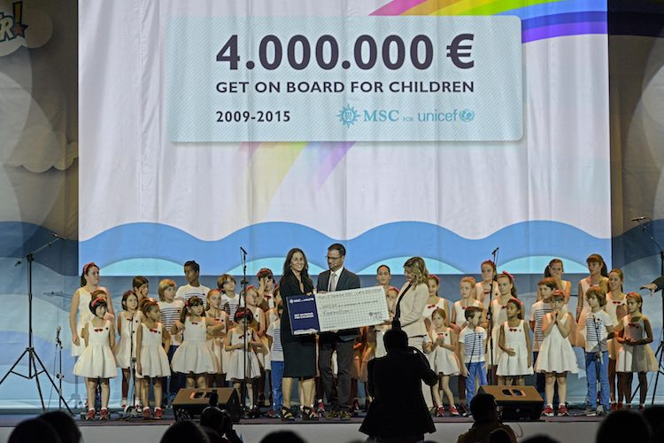 MSC Kreuzfahrten und ihre Gäste spenden 4 Millionen Euro an UNICEF / © MSC Kreuzfahrten
