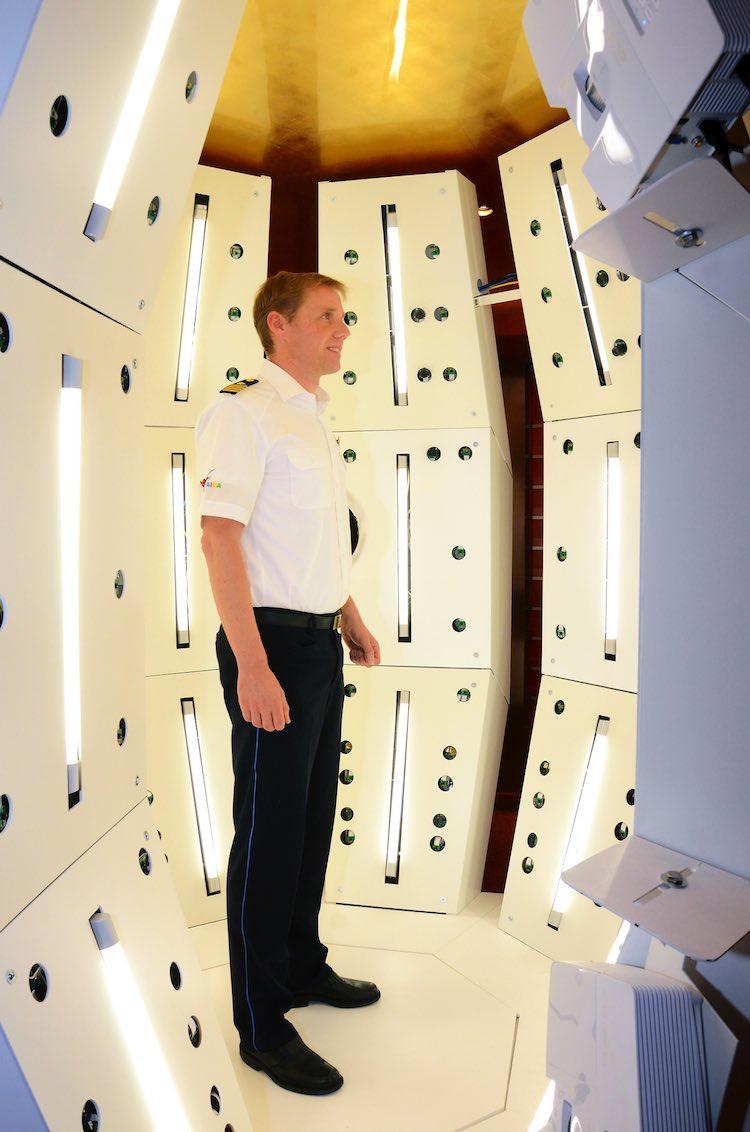 AIDA 3D Scanner bei der Arbeit / © AIDA Cruises