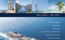 MSC Kreuzfahrten: Neuheiten im Jahreskatalog 2016/2017