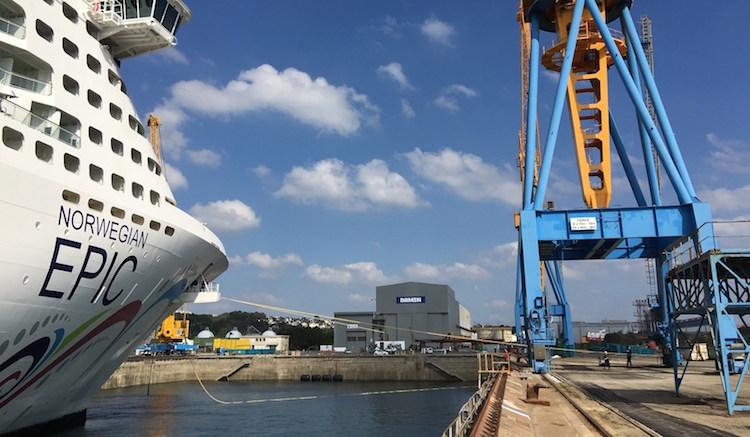Norwegian Epic in der Damen Werft in Brest / © Damen Shipyards
