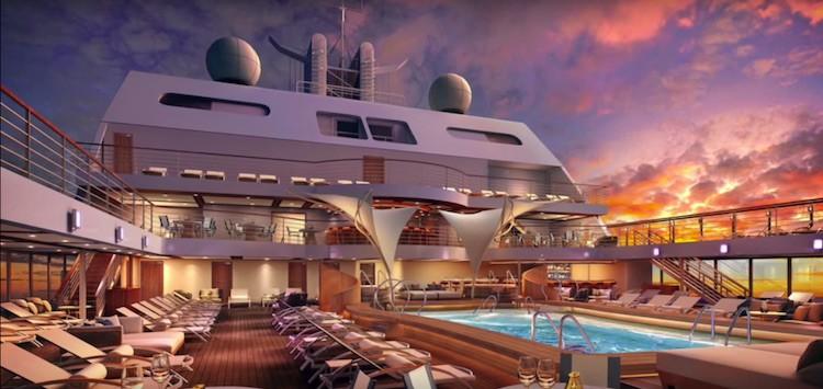 Pooldeck der Seabourn Encore / © Seabourn Cruise Line