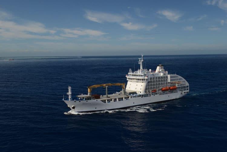 Aranui 5 - kombiniertes Fracht- und Passagierschiff / © Aranui
