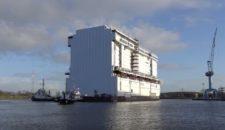 Meyer Werft: Bauteil der Genting Dream ausgedockt (VIDEO)