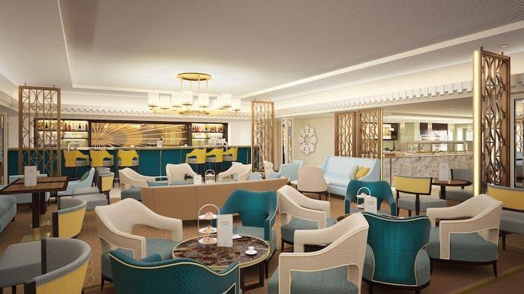 Carinthia Lounge auf der Queen Mary 2 ersetzt den Winter Garden / © Cunard Line