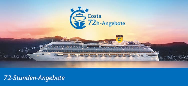 Die Costa Kreuzfahrten 72 Stunden-Angebote / © Costa Kreuzfahrten