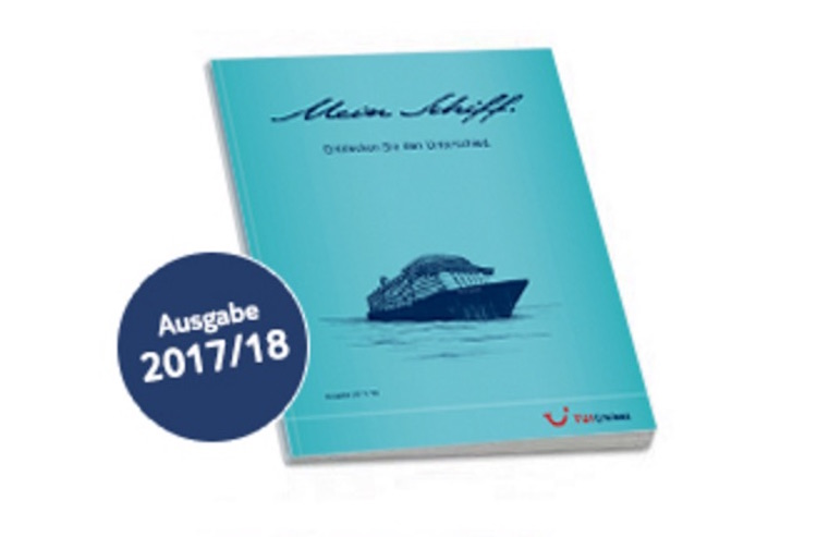 Mein Schiff Kataloge 2017/2018 ab sofort bestellbar / © TUI Cruises