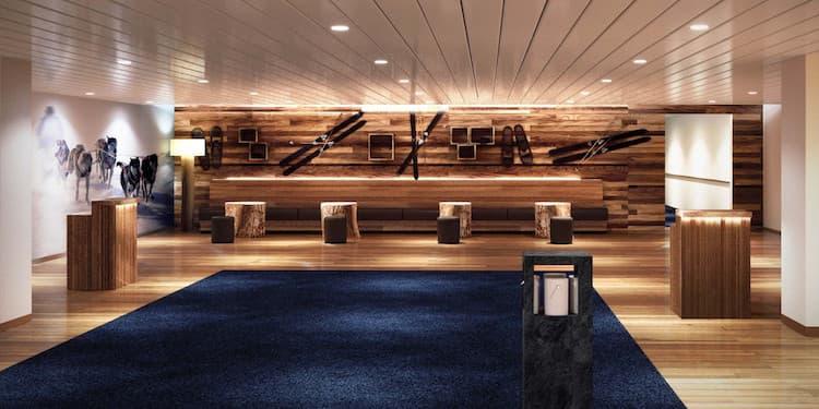 Die neue Rezeption auf den Hurtigruten Kreuzfahrtschiffen / © Hurtigruten