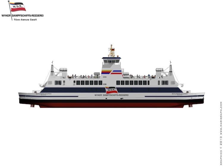 Neue Fähre von der Neptun Werft / © Wyker Dampfschiffs-Reederei