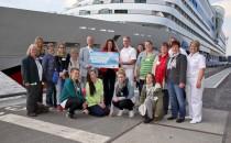 Wie jedes Jahr: AIDA übergibt 100.000 Euro an SOS Kinderdorf
