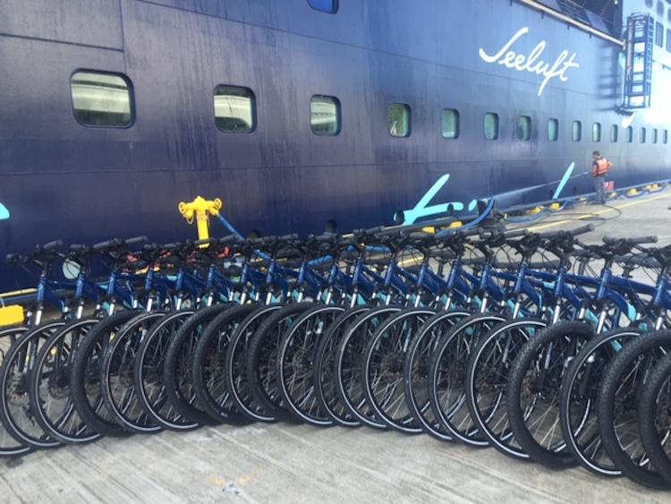 Die Bikes der Mein Schiff 1 warten schon auf uns