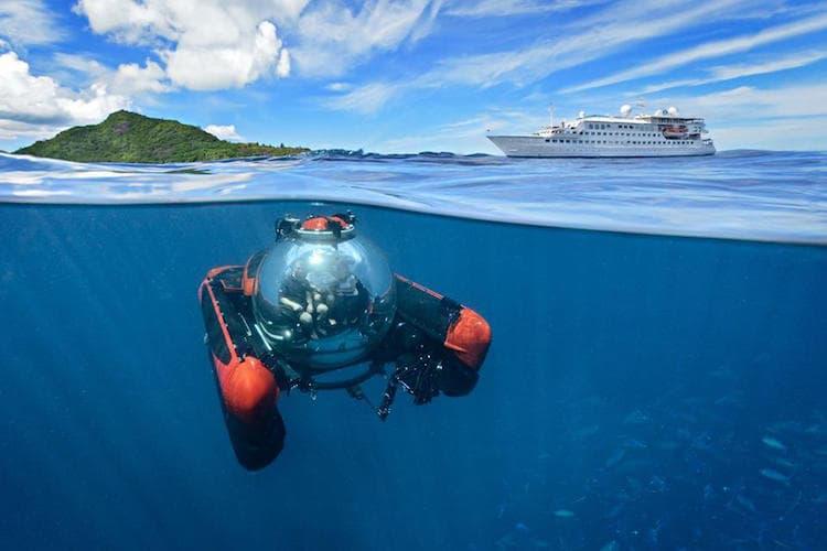 Unterwasser-Ausflüge sind mit Crystal Cruises auch möglich: 599 US-Dollar kostet ein halbstündiger Ausflug - pro Person / © Crystal Cruises
