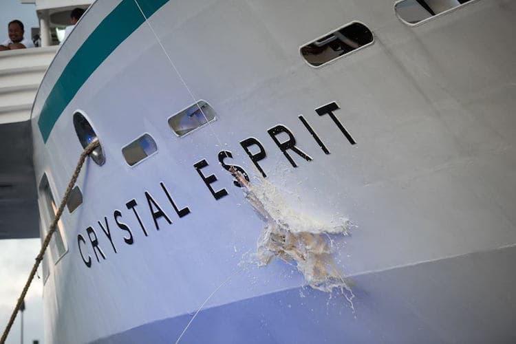 Taufe der Crystal Esprit auf den Seychellen / © Crystal Cruises
