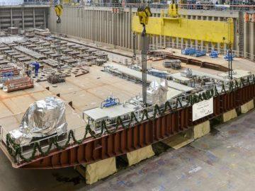 Die Genting Dream wurde am 04.12.2015 auf der Papenburger Meyer Werft auf Kiel gelegt / © Meyer Werft