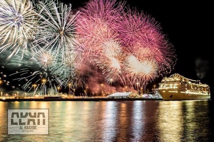 MSC Musica ist erstmals in Abu Dhabi im Hafen / © MSC Kreuzfahrten