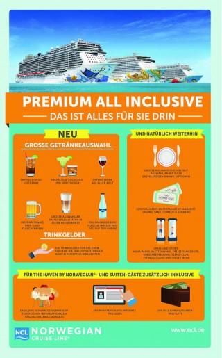 Premium all Inclusive bei NCL / © Norwegian Cruise Line