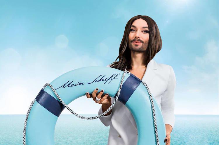Conchita Wurst kommt mit auf die Gay Cruise von TUI Cruises auf der Mein Schiff 2 / © TUI Cruises