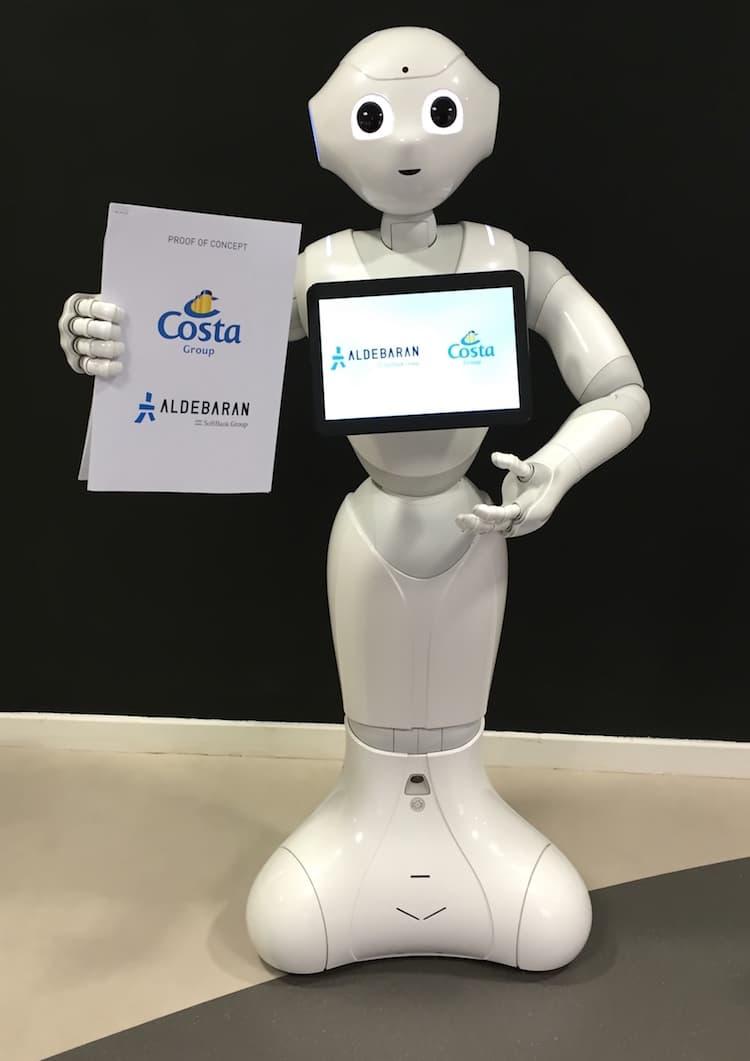 Costa Gruppe testet als erste Kreuzfahrtreederei den Einsatz von emotionalen Robotern an Bord von AIDA und Costa Kreuzfahrten / © Costa Crociere