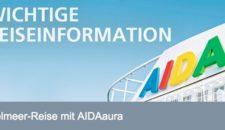 AIDAstella ersetzt AIDAaura im westlichen Mittelmeer im Sommer 2016