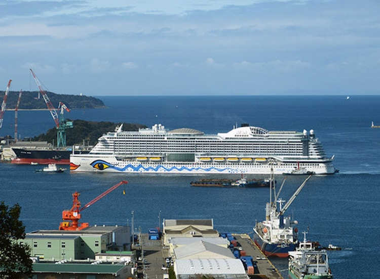 AIDAprima beendet letzten Sea Trial in Japan und kommt zurück ins Baudock / © http://blogs.yahoo.co.jp/hoshinabedon/39754684.html