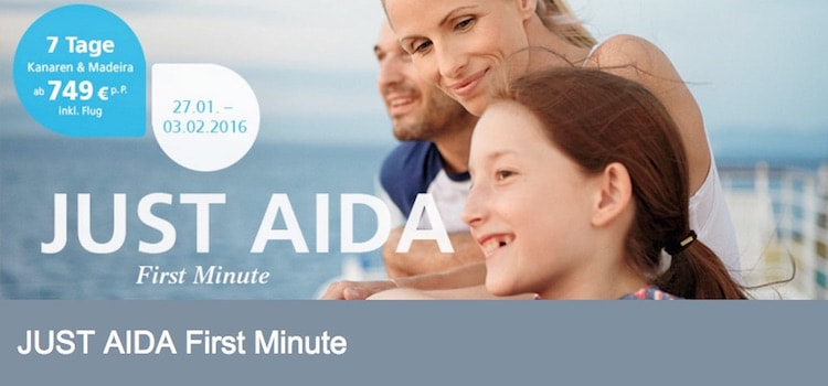 Just AIDA First Minute Angebote vom 27.Januar 2016 / © AIDA Cruises