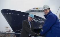 Mein Schiff 5 wurde zu Wasser gelasen bei Meyer Turku