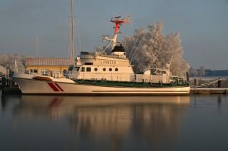Der ehemalige Seenotrettungskreuzer MINDEN der Deutschen Gesellschaft zur Rettung Schiffbrüchiger / © DGzRS