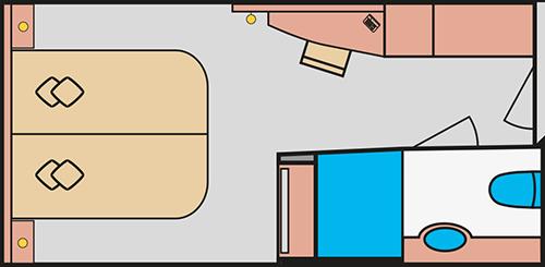 AIDAprima Innenkabine - Beispiel Grundriss © AIDA Cruises