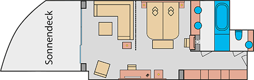 AIDAprima Suite - Beispiel Grundriss © AIDA Cruises