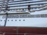 Ausdocken Genting Dream / Foto © Nils Kallmeyer